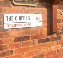 Image of personalised house street sign