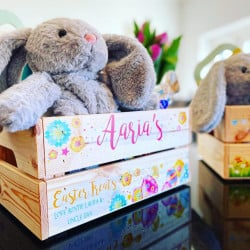 Personalised Easter Egg Crate-Bright Eggs