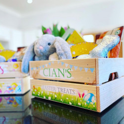 Personalised Easter Egg Crate-Garden Design
