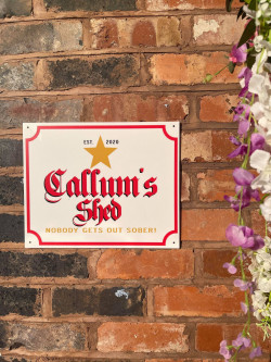 Personalised Beer Sign - E