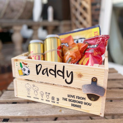 Personalised Printed Wooden Character Crate