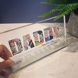 Personalised Photo Letter Block Large - Daddy