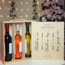 Image of wine bottle christmas gift