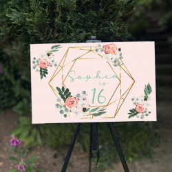 Personalised Events Board (BUY 1 get 1 FREE) GEO and FLOWERS