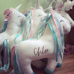 Image of Personalised Rainbow Unicorn Cushion