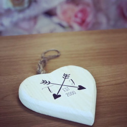 Image of Personalised Initials Hanging Heart