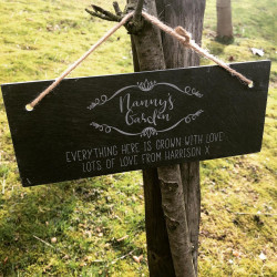 Image of Personalised Garden Slate Sign