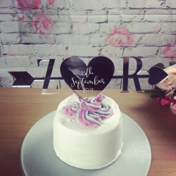 Image of Personalised Mirrored Cake Topper