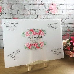 Image of Personalised Wedding Guest List Plaque