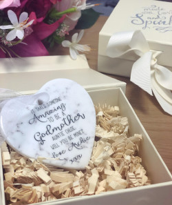 Image of Marble Effect Grandmother Heart Plaque