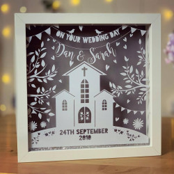 Image of personalised wedding frame