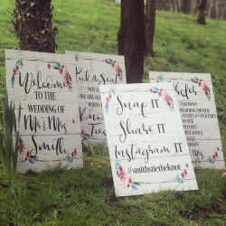 Floral Theme Large Wedding Sign