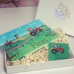 Personalised Tractor Placemat & Coaster Set