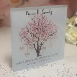 Image of Personalised Family Tree Acrylic Plaque