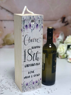 Image of personalised lavender wine box