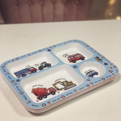 Image of transport theme dinner tray