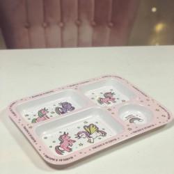 Image of unicorn theme dinner tray
