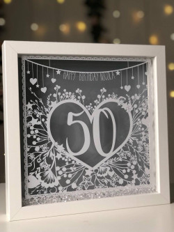 Image of personalised birthday frame