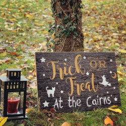 Image of personalised halloween sign