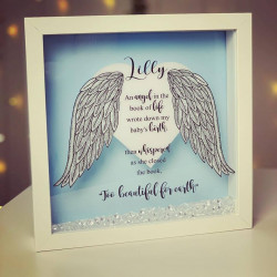 Image of personalised remembrance frame