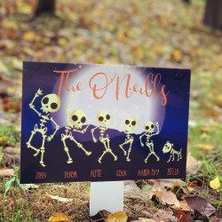 Image of halloween garden plaque