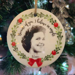 Personalised Hanging Decoration Remembrance Photo Christmas Tree Decoration (BUY ONE GET ONE FREE)