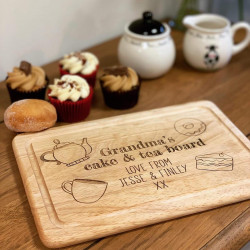 Image of cake & tea personalised board