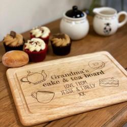 Image of cake & tea personalised board