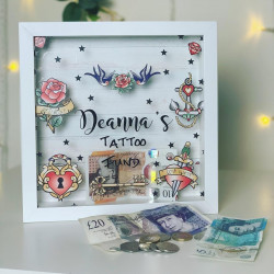 Personalised Vintage Colour Tattoo Fund Box