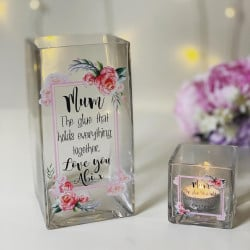 Image of Personalised Floral Vase