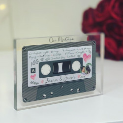 Image of Our Mixtape Cassette Acrylic Block