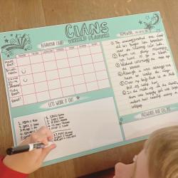 Personalised Kids reward and homework Planner