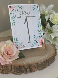Ornate Floral Wedding Table Numbers
