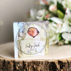 Personalised Baby Photo Acrylic Block
