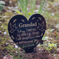 NEW Personalised Doves Heart Remembrance Plaque