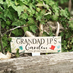 Personalised Grandad's Garden Ground Stake Plaque