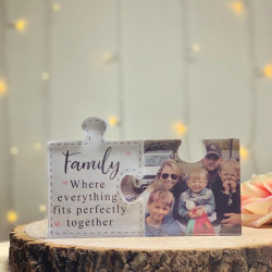 Personalised Family Photo Acrylic Jigsaw Pieces