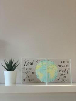 Personalised Dad You Are My World Acrylic Block Set