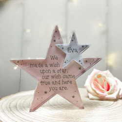 Personalised Wish Baby Acrylic Star Jigsaw Pieces