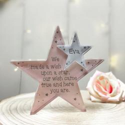 Personalised Wish Baby Acrylic Star Jigsaw Pieces