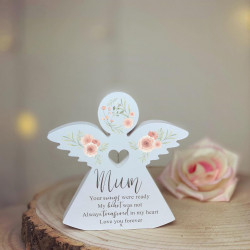Personalised Freestanding Wooden Remembrance Angel