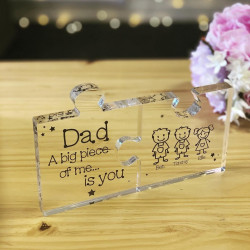 Personalised Clear Acrylic Jigsaw Pieces