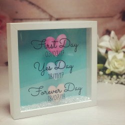 Personalised First Day, Yes Day Frame