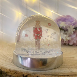 Personalised Snow Globe Shaker - NUTCRACKER