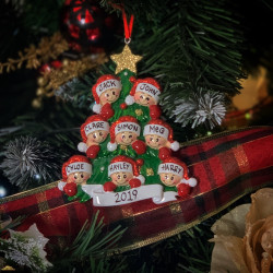 Personalised Christmas Tree Family Hanging Decoration **GUARANTEED FOR CHRISTMAS**