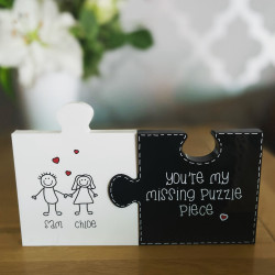 Personalised Jigsaw Pieces - You're my missing puzzle piece