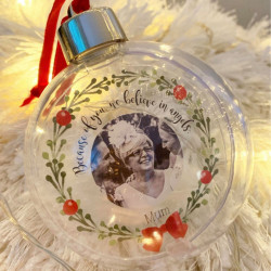 Personalised Remembrance Baubles - Set of 2