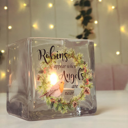 image of robins appear tealight holder