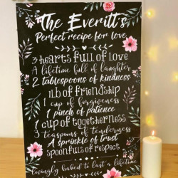 Large Personalised Perfect Recipe Rules Sign