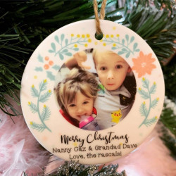 Personalised Hanging Decoration - Pastel Wreath- Tree Decoration (BUY ONE GET ONE FREE)